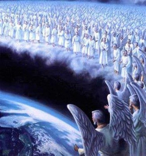 Legions of angels watch over the earth