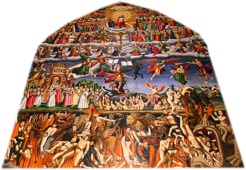 Fresco of Heaven, Earth, Hell