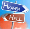 Signs pointing to Heaven or Hell