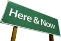 Hwy sign: Here & Now