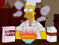 Homer burns cereal