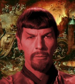 Mirror Universe Spock as Devil in Bosch Hell
