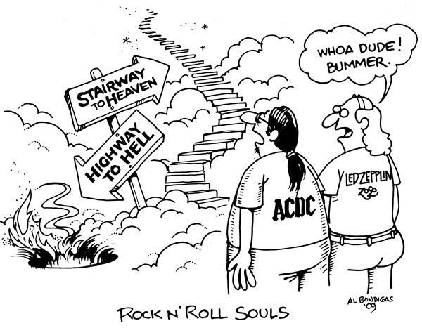 AC/DC and Led Zep fans see choice of Stairway to Heaven or Highway to Hell