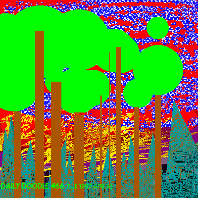 Forest abstracts at sunset