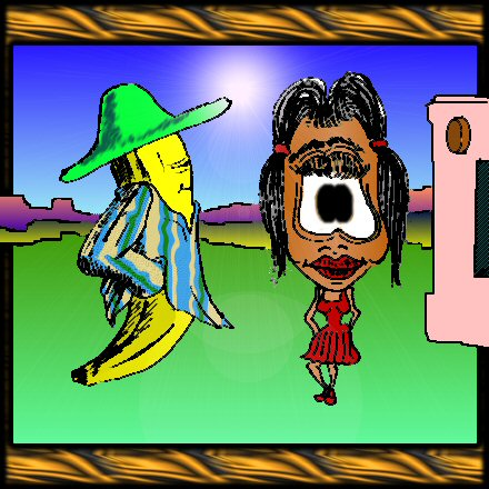 Señor Banana and Señorita Potatohead