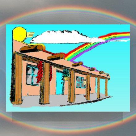 Adobe House Veranda