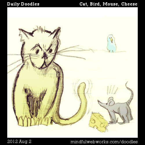 Cat, Bird, Mouse, Cheese