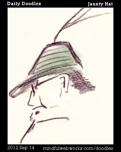 Man in a jaunty hat