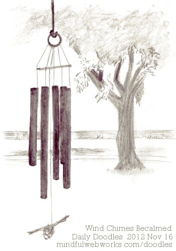 Wind Chimes Becalmed