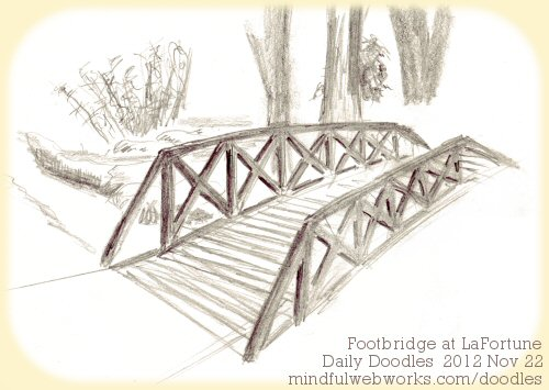 Footbridge at LaFortune
