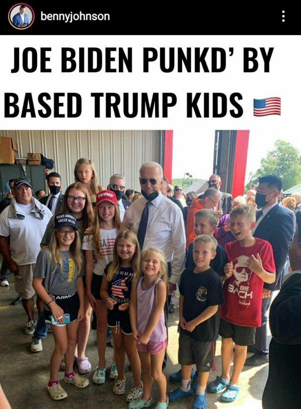 Biden punked by Trump kids