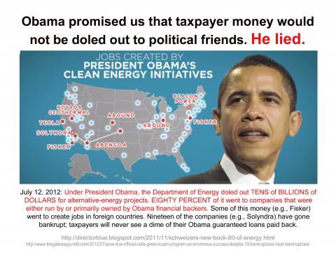 Obama's Green Energy Crony Theft