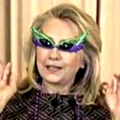 Hillary in Garish Glasses