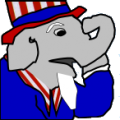 Surprised Uncle Sam Elephant