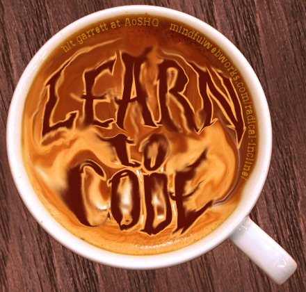 Learn to Code latte foam