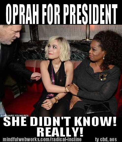 Oprah introduces young lovely to Weistein