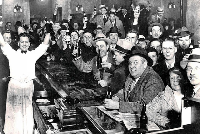 Bar crowd cheers prohibition