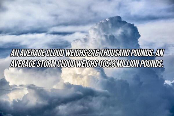 Mass of clouds