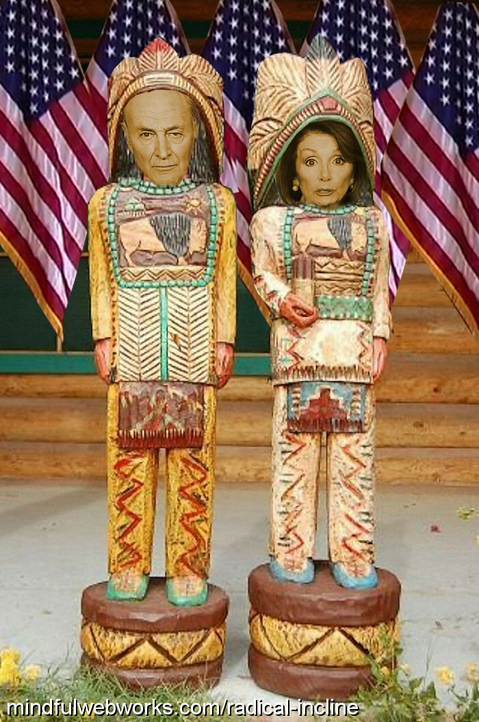 Cigar store Indians Chuck and Nancy