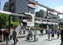 SkyTran overhead mag-lev personal transport system