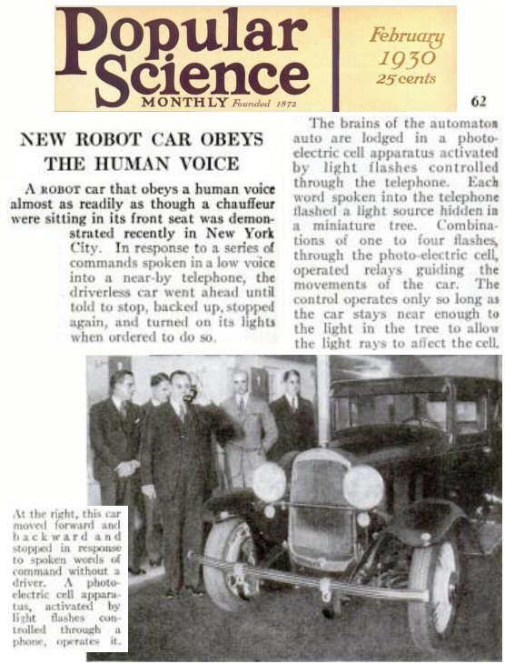 Pop Sci Jun 1930 Robot Car